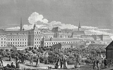 Wien, alte Burgbastei, Kupferstichvorlage