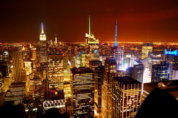 Aerial view of Manhattan from Top of the Rock