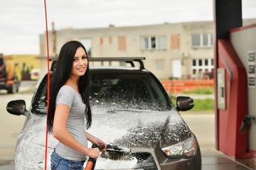 fille sexy laver votre voiture