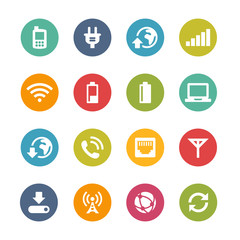 Mobile Network Icons, Circle Series