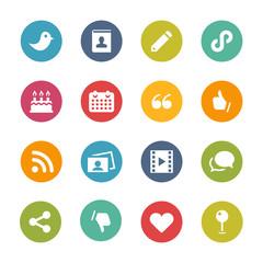Social Media Icons, Circle Series