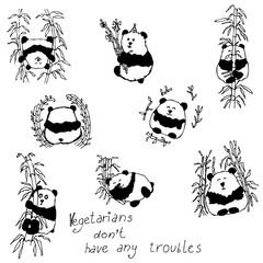 Cute Pandas Set
