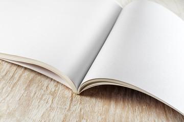 Fragment of blank brochure