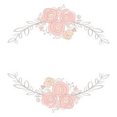 Cute card with laurel flower bouquet
