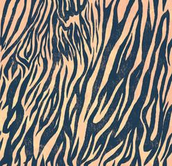 Seamless vintage style pattern with zebra print. Hand drawn