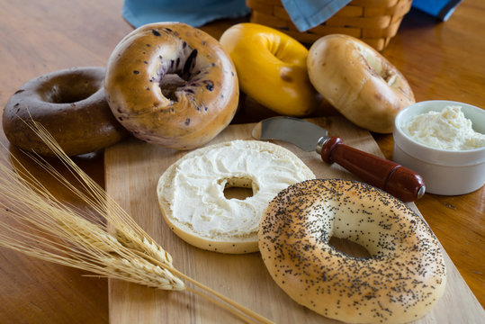 Poppy Seed Bagel with Cream Cheese