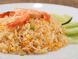 Fried rice thai food,Shrimp fried rice.