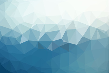 abstract background consisting of triangles . Polygonal vector