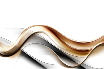 Gold Abstract Waves Background