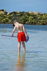 enfant Bretagne pêche
