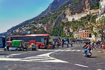 Verkehr in Amalfi