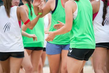 Mädchen – Team – Sportler