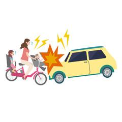 自転車 イラスト 自動車 事故