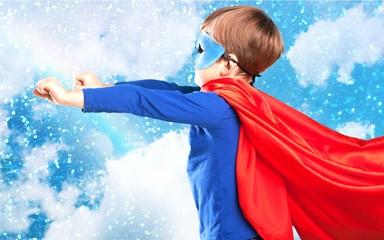 Kid, superhero, success.