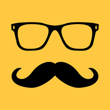 Mustache and Glasses