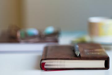 Book on Desk Blurred Background
