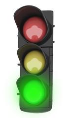 Semaforo con luce verde accesa