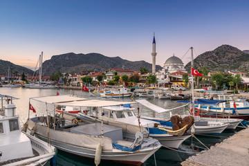 Brozburun marina on the Brozburun Peninsula in south west Turkey