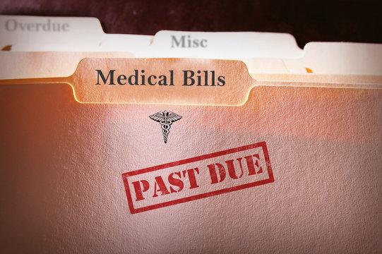 Past Due Medical Bills folder