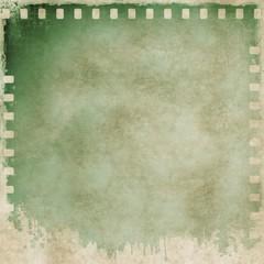Vintage green film strip frame