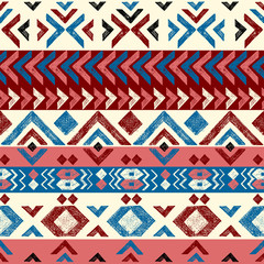 hand drawn tribal seamless pattern