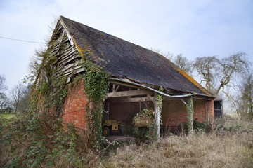 Old barn, Worcestershire, England