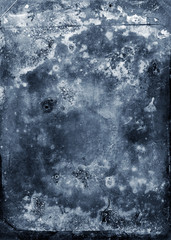 grunge scratched blue wall texture
