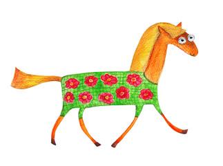 Horse. Watercolor