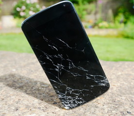 Dropped and Smashed Generic Smartphone
