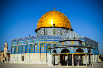 Dome of The Rock Mosque in East Jerusalem
