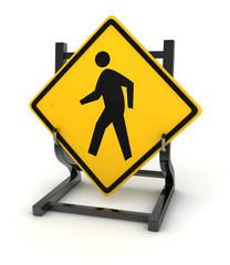 Road sign - pedestrian