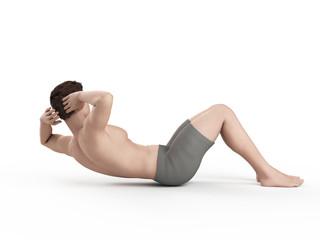 exercise illustration - side crunch