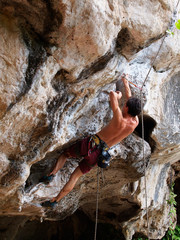 Climbing Tonsai, Krabi, Thailand