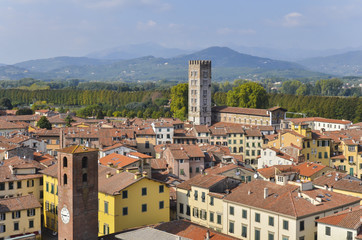 Lucca,  Tuscany, Central Italy view