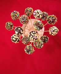 Colorful cakepops top view