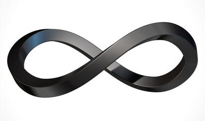 Infinity Symbol Carbon Fibre