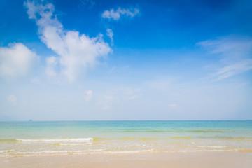 Beach and tropical sea with blue sky