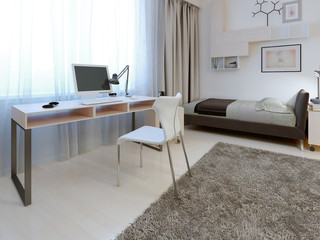 Idea of working area at bedroom