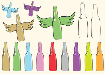 Clipart with bottles