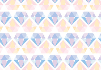 abstract diamond pastel colorful seamless pattern background vector