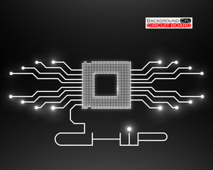 Cpu. Circuit board. Vector illustration. Eps 10