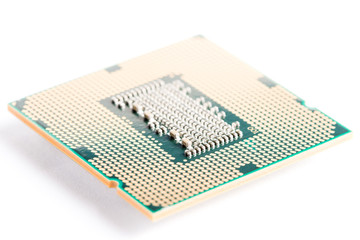 CPU (Central Processing Unit) on white background