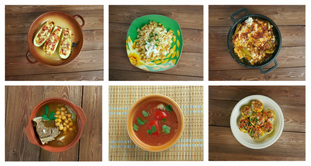 set oriental Turkish  cuisine.