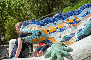 Mosaic salamander at Parc Guell, Barcelona