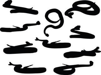 reptile rattler silhouette