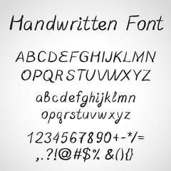 Handwritten Font, ink style