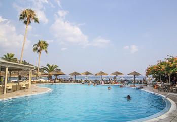 swimming pool, holidays, Parga Greece