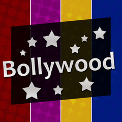 Bollywood Colorful Halftone Background