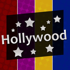 Hollywood Colorful Halftone Background