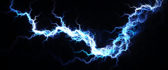 Abstract of hot blue lightning, electrical background